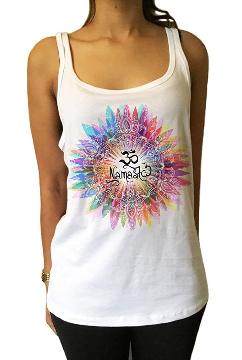 Camisetas de Manga Larga Namaste OM Flores Color explosi/ón Yoga meditaci/ón Zen Print JTK731