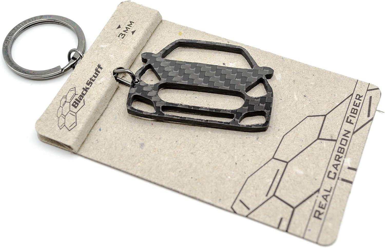 BlackStuff Llavero De Fibra De Carbono Cadena De Claves Compatible Con Punto Abarth BS-719