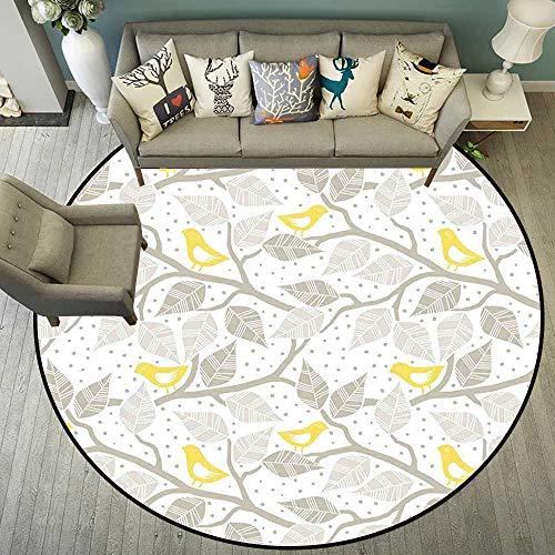 Circularity Floor mat Salon Round Indoor Floor mat Entrance Circle Floor mat for Office Chair Wood Floor Circle Floor mat Office Round mat for Living Room Pattern 5'7
