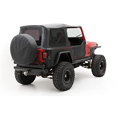 Smittybilt 9870215 Denim Black OEM Replacement Soft Top with Door Skins and Tinted Windows: Automotive