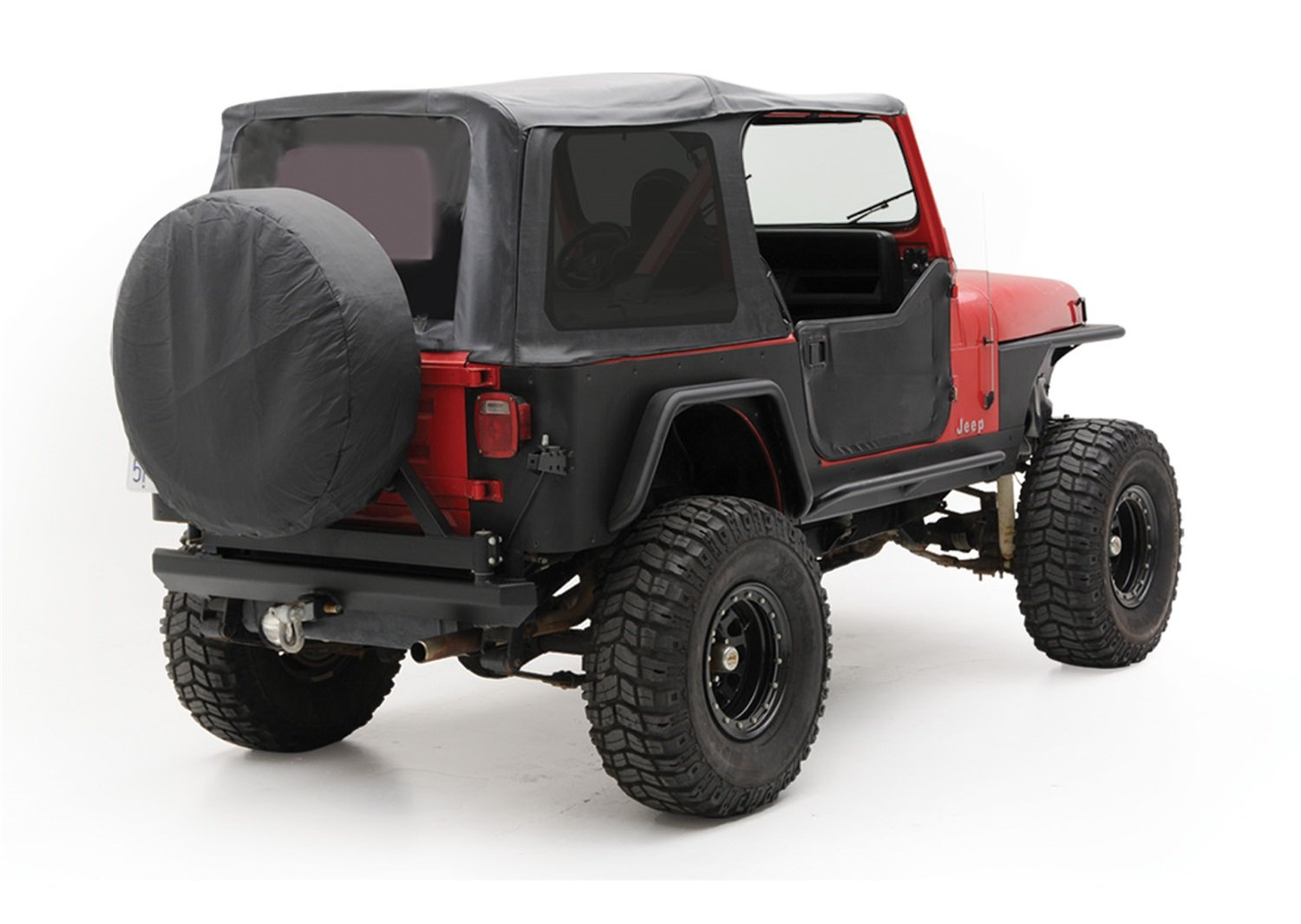 Image of Smittybilt 9870215 Denim Black OEM Replacement Soft Top with Door Skins and Tinted Windows Cabs & Roofs