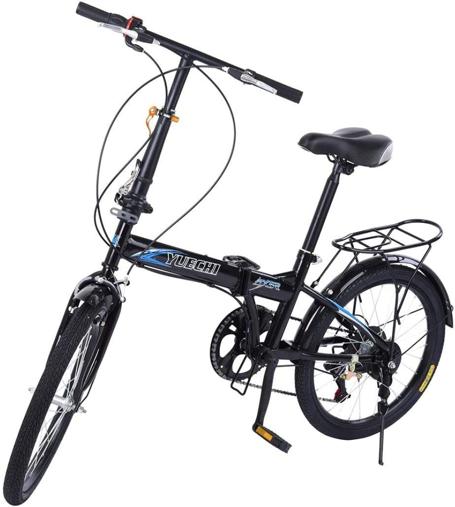 7 Speed City Folding Compact Suspension Bike Bicycle Urban Commuters 20in