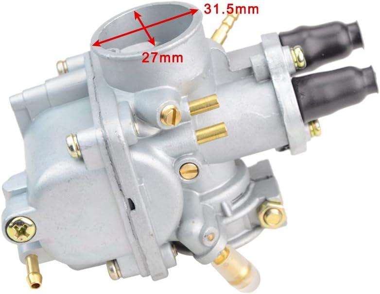 GOOFIT Carburateur Carb Drosselklappe Cable Set Yamaha PW50 1981-2009 Moto