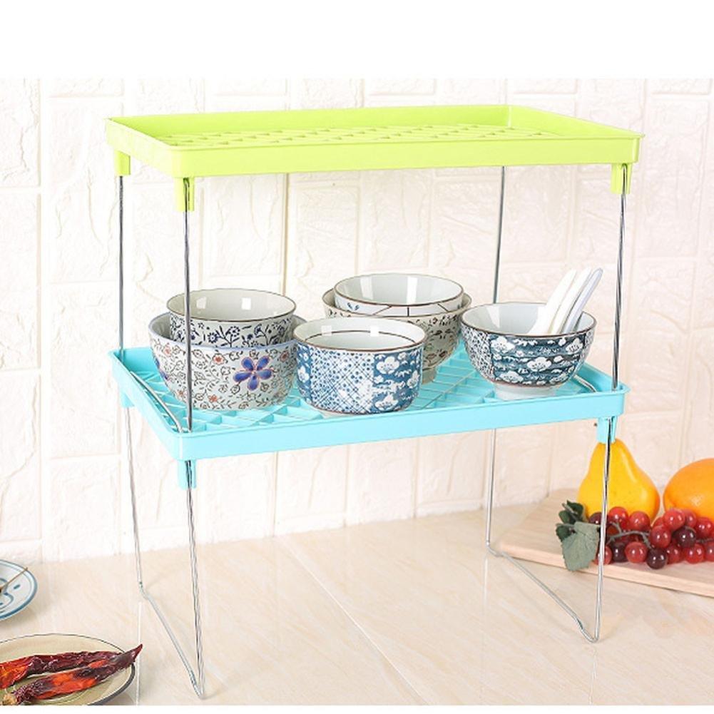 Amazon.com: Foldable Shelf, Sttech1 Tier Stackable Shelves Kitchen ...