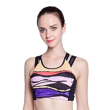 Comfort Bra Mujeres Niñas Yoga Bra Sports Printed Underwear ...