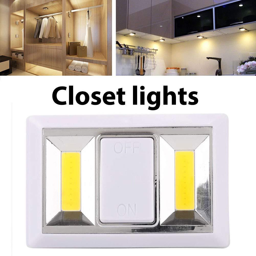 Weituoli Lodestar COB LED luz del Armario, Super Bright, con Pilas ...