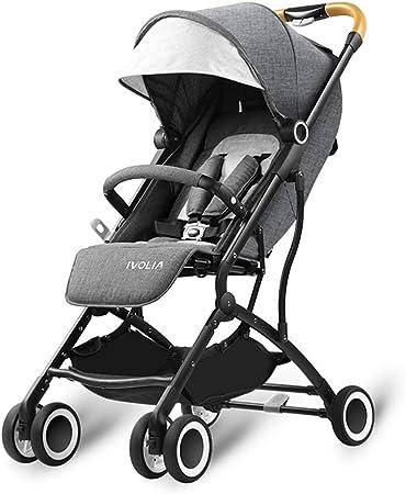 Opinión sobre baby stroller Cochecito liviano, tamaño Plegable con una Mano 53x45x20cm, Peso Corporal 5 kg, fácil de Llevar, Adecuado Desde el Nacimiento hasta 25 kg, Canasta de Almacenamiento