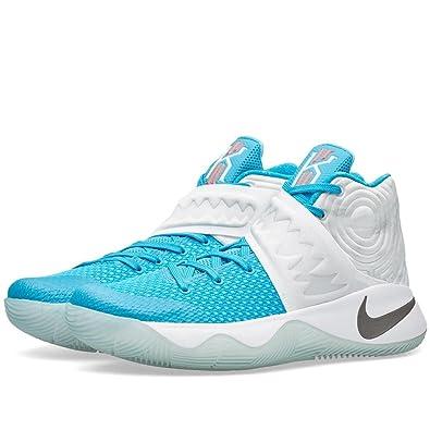 Amazon.com | Nike Men's Kyrie 2 XMAS, WHITE/OBSIDIAN-BLUE LAGOON-OMEGA BLUE  | Basketball