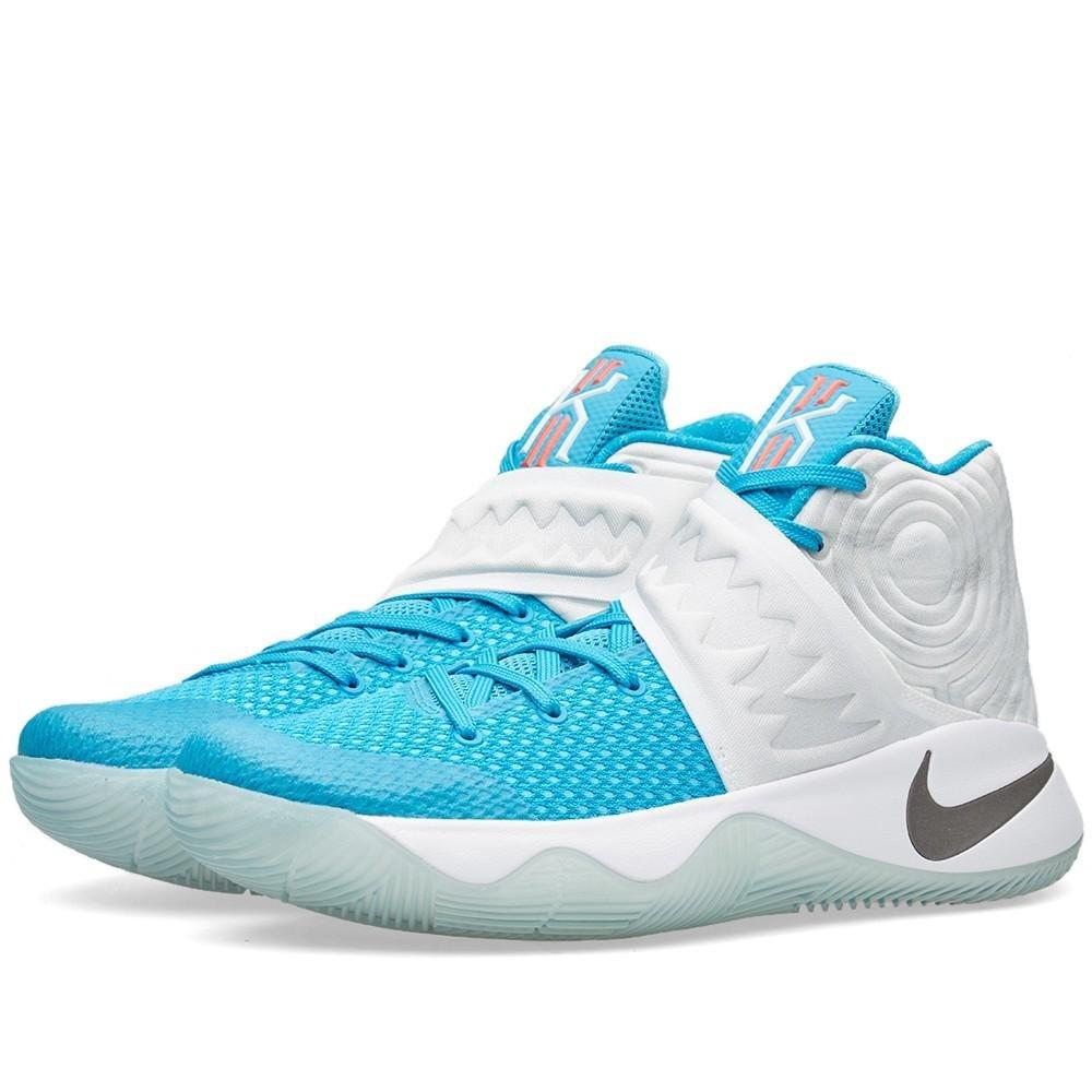 Amazon.com | Nike Men\'s Kyrie 2 XMAS, WHITE/OBSIDIAN-BLUE LAGOON ...