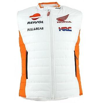 2017 Repsol HRC Honda MotoGP equipo para hombre chaleco chaleco para hombre MARC MARQUEZ/Pedrosa, blanco: Amazon.es: Deportes y aire libre