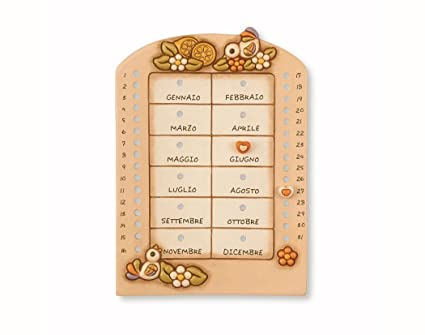 Thun Calendario.Thun Country Perpetual Table Calendar Ceramic Multi
