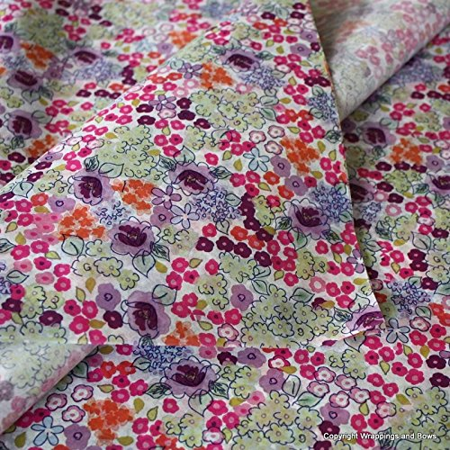 Patterned Printed Tissue Wrapping Paper Liberty Bloom Design 5 sheets Wrappings and Bows
