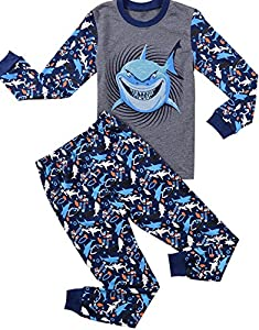 Babypajama Shark Little Boys' Pajama Sets 100% Cotton Halloween Kids Pjs