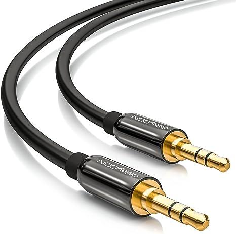 PREMIUM Stereo Audio Kabel 3,5mm Stecker zu 2x Cinch Stecker 10m