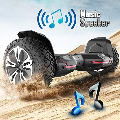 Gyroor Warrior 8.5 inch All Terrain Off Road Hoverboard with Bluetooth Speakers and LED Lights, UL2272 Certified Self Balancing Scooter 2018(Black) by Gyroor (Image #3)