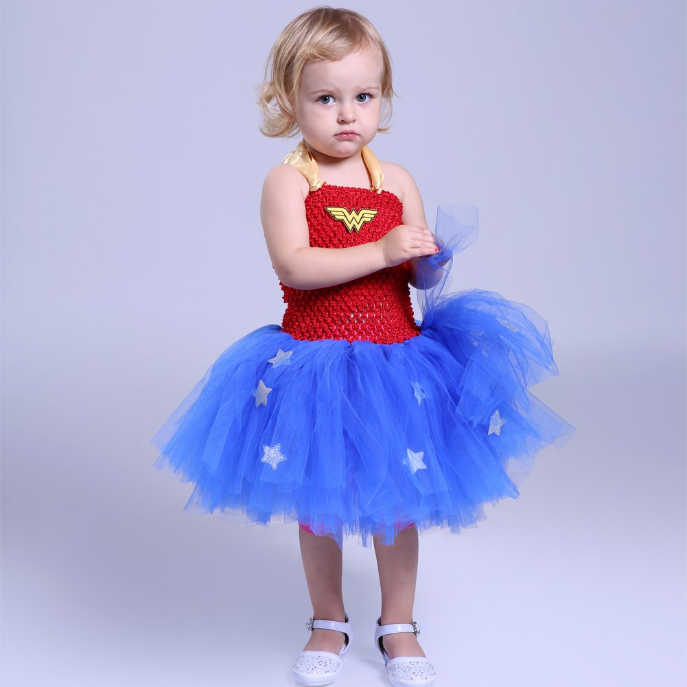 Moon Kitty Girls Captain America Costume Dresses Red by Moon Kitty (Image #5)