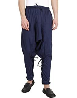 fea65b8ee Mens Yoga Lightweight Cotton Dance Handmade Harem Pants - Samurai Style