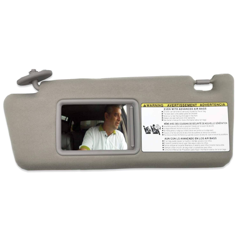 SAILEAD Sun Visor for Toyota Tacoma 2005 2006 2007 2008 2009 2010 2011 2012 Visor Assembly Without Light 74320-04181-B1 Gray