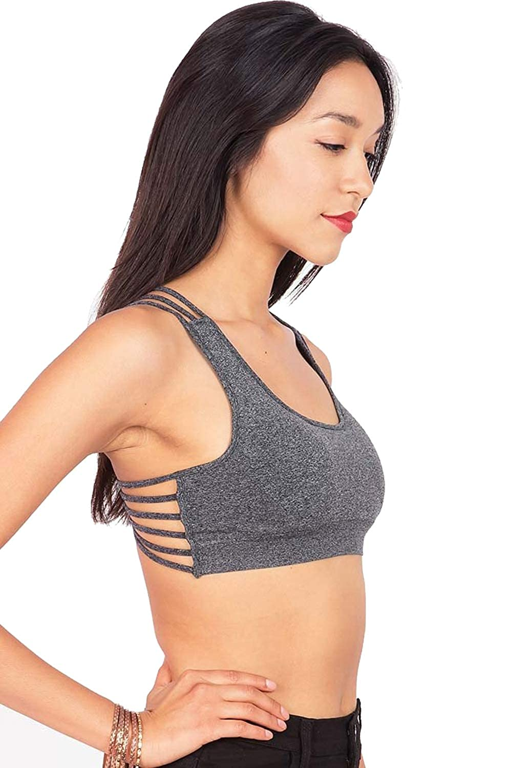 4cd642aa61 Zenana Women s Strappy Back Sports Bra at Amazon Women s Clothing store