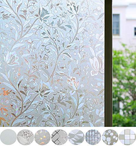Bloss Window Film Decorative Window Films Window Clings Window Shades Window Decals Window Tint Privacy Windows Film, 17.7 by 78.7 inches