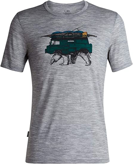 Shore Icebreaker Tech Lite SS Crew Road Trip Top L