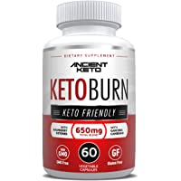 Keto Diet Pills - Supports Healthy Weight Loss, Boost in Energy, Mental Clarity & Focus - Extra Strength Keto Burn Formula - by Ancient Keto (60 Ct.)