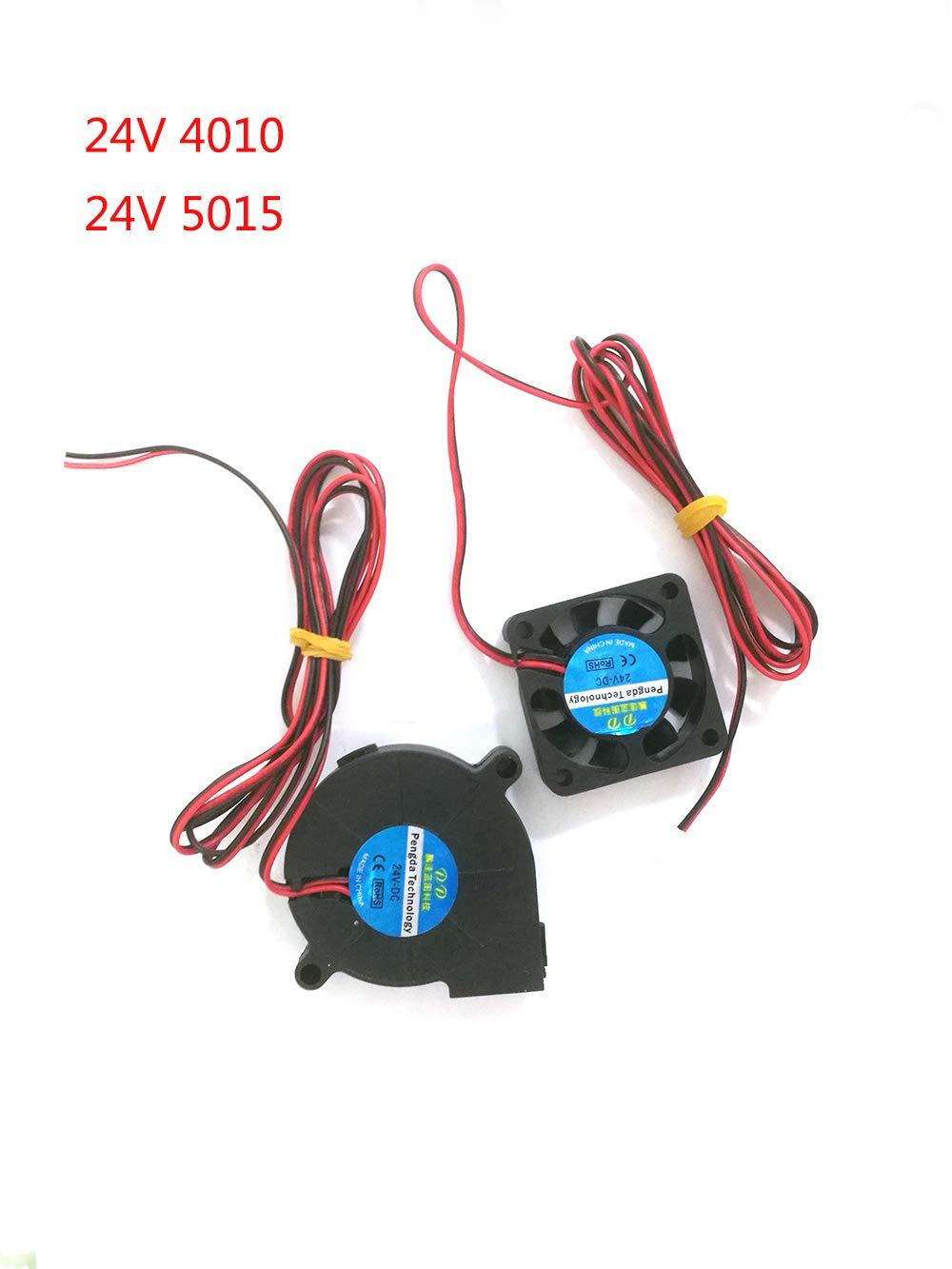 Impresora 3D Ventilador Ventilador Ventilador DC 24V 40x10 50x15 Ventilador de enfriamiento del extrusor (1M) Eewolf