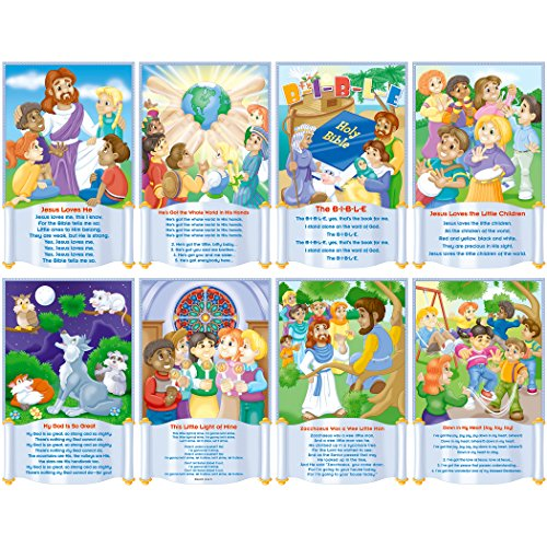 Music Bulletin Board (North Star Teacher Resource NST3102 Children's Bible Songs Bulletin Board Set, Set of 8 Posters)
