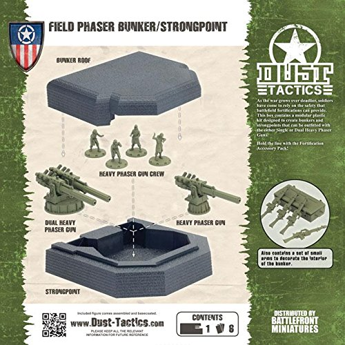 Allied Fortification - Field Phaser Bunker/Strongpoint by Battlefront Miniatures from Dust Tactics