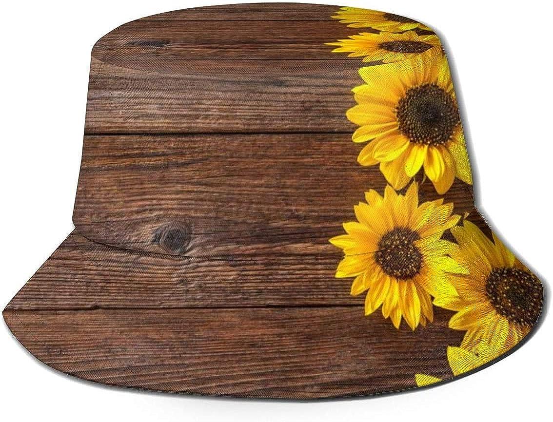 Girasoli Flat Top Cappello da Pescatore Unisex Berretti da ...