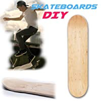 Lembeauty 20,3cm 8Couches Érable Vierge Double concave Skateboards Naturel du Pont de Skate Board Skateboards Deck Bois d'érable