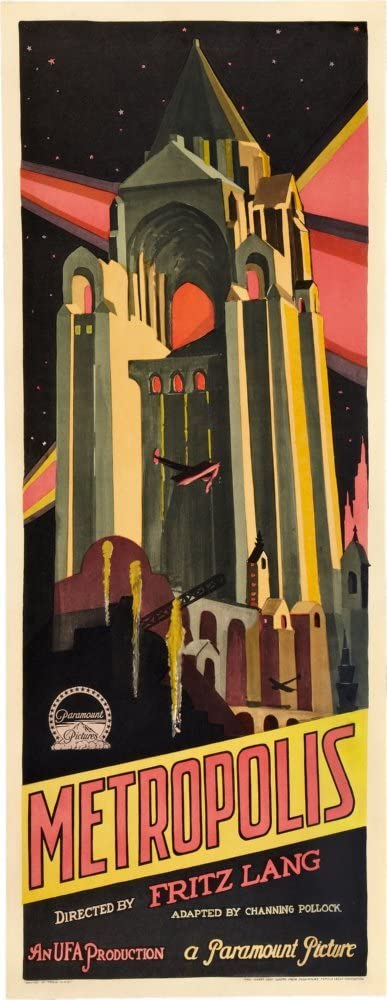 Metropolis Movie Poster Insert #01 Replica
