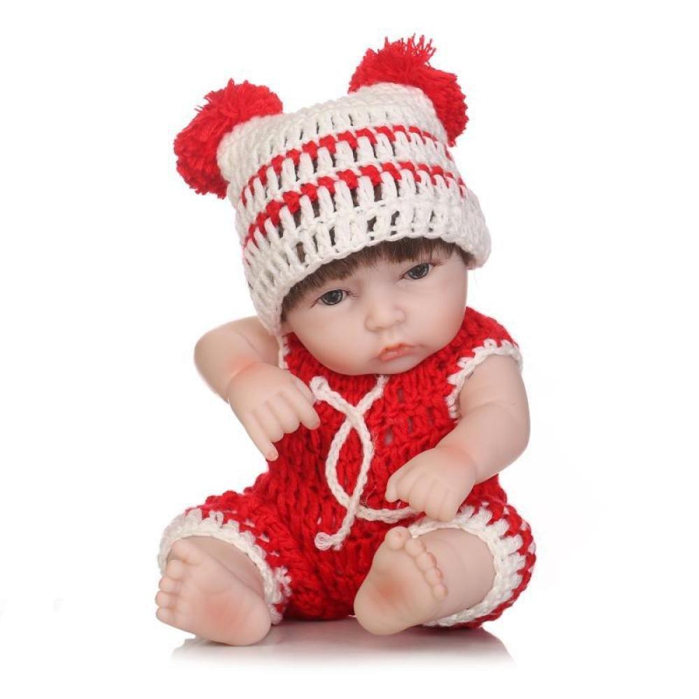 ADZPAB Suave de Silicona MagnifierLiveLive bebé recién Nacido Regalo de Juguete 11 Pulgadas 27 cm renacer muñeca de bebé Impermeable