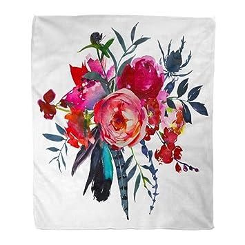 Amazon.com: Manta de franela cálida y acogedora, diseño de ...
