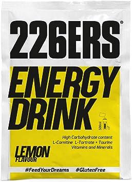 226ERS Energy Drink Monodosis, Bebida Energética con Amilopectina, Taurina y L-Carnitina, Limón - 15 unidades x 50 gr