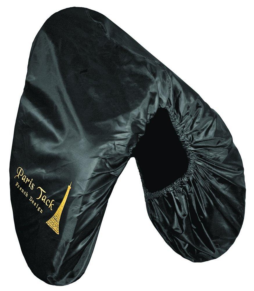 Black Paris Tack Nylon Dressage Saddle Cover