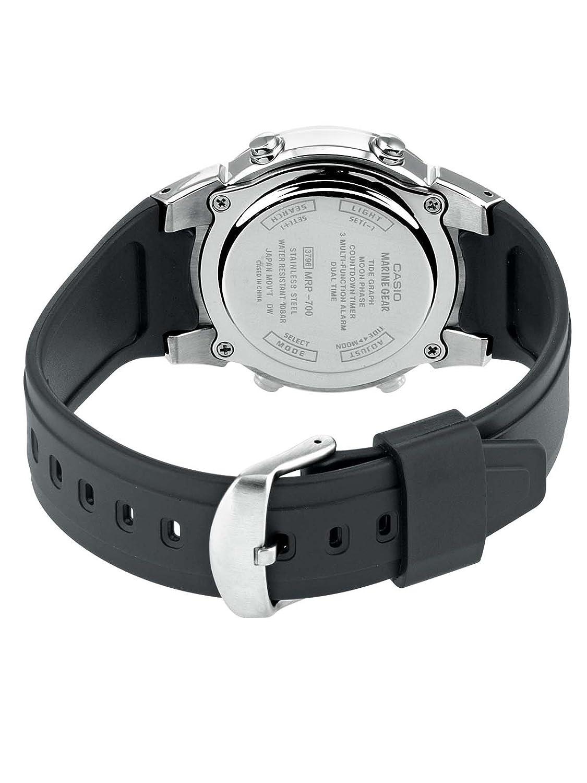 Casio Men's Analogue/Digital Quartz Watch with Resin Strap MRP-700-1AVEF:  Amazon.co.uk: Watches