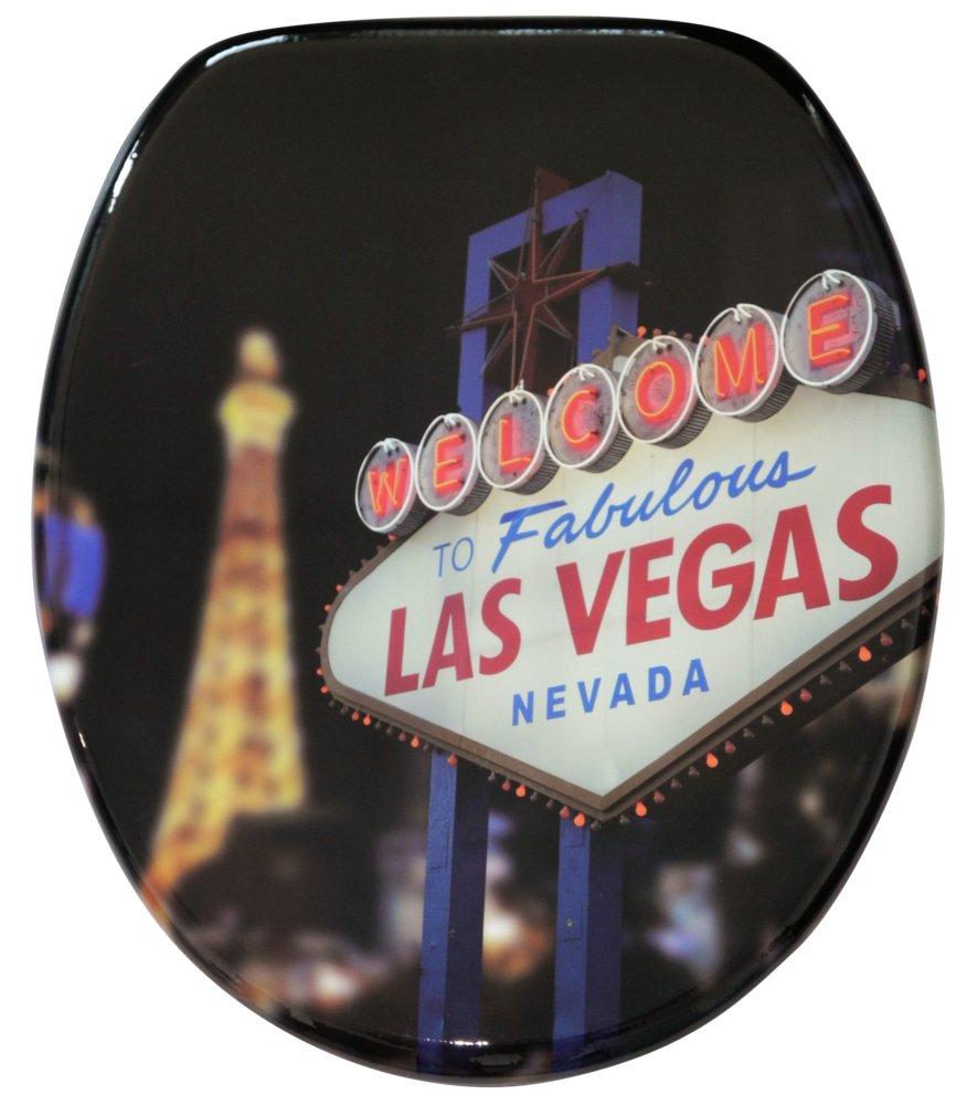 Abattant WC frein de chute soft close - Finition de haute qualité - Fixation facile - Las Vegas SANILO A038855