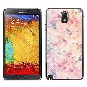 LASTONE PHONE CASE / Slim Protector Hard Shell Cover Case for Samsung Note 3 N9000 N9002 N9005 / Cool Wallpaper Modern Art Pink Light