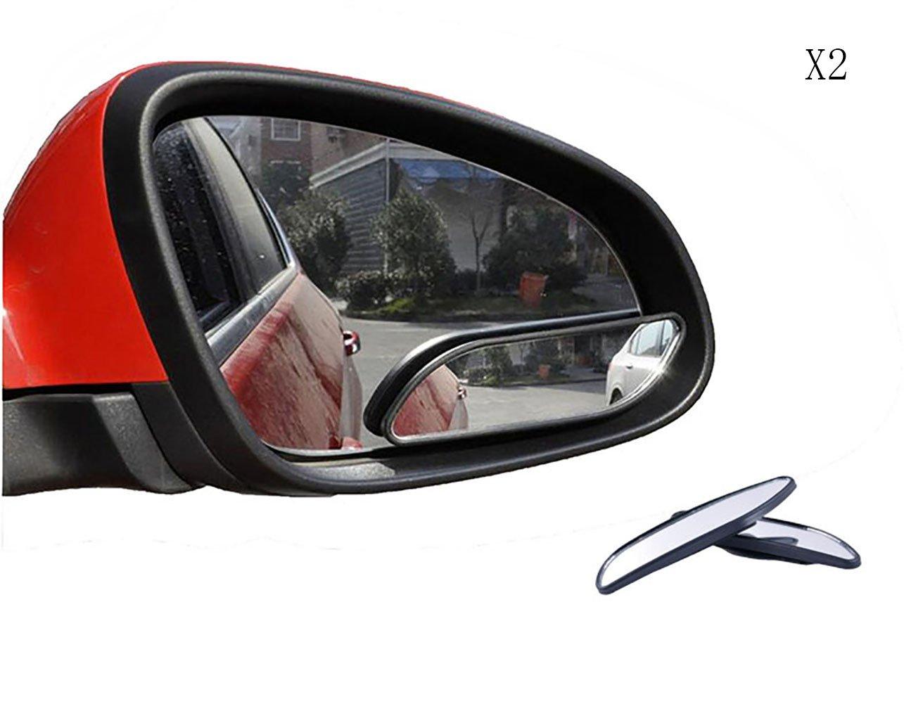 Meipro 360 /° Girar El Espejo De Punto Ciego Gran Angular Espejo Retrovisor Ajustable Espejo De Cristal Convexo De HD Para el Coche SUV Universal Fit Stick On Lens Paquete De 2pcs