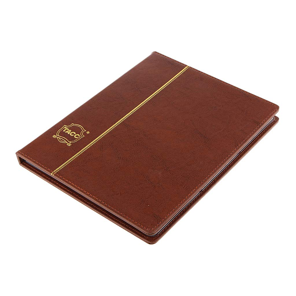 Paper Money Currency Banknote Protection Album Pockets for Collection Brown