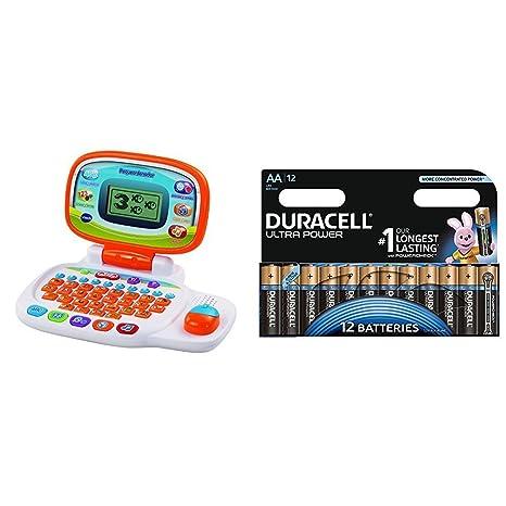 VTech - Peque ordenador, multicolor (3480-155422) con Duracell Ultra Power -