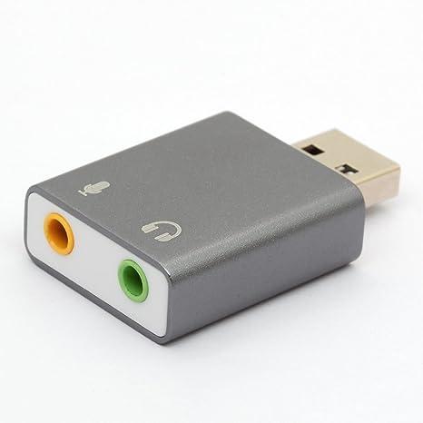 CentBest Adaptador de sonido estéreo externa USB externa ...