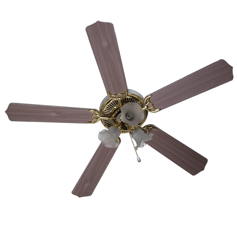 BOSTON HARBOR CF L Dual Mount 3 Light Ceiling Fan 52 Inch