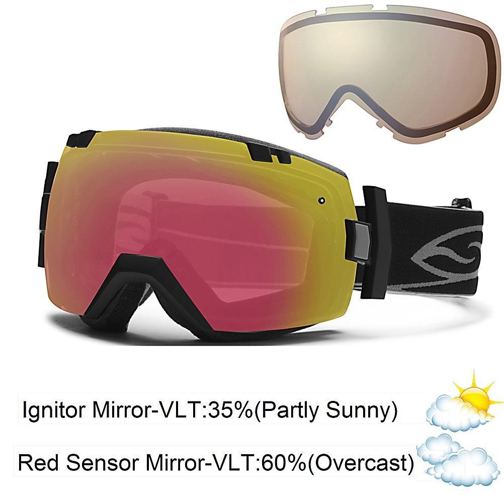 Smith I/OX SPH OTG - Gafas de esquí Black - Red Sensor ...