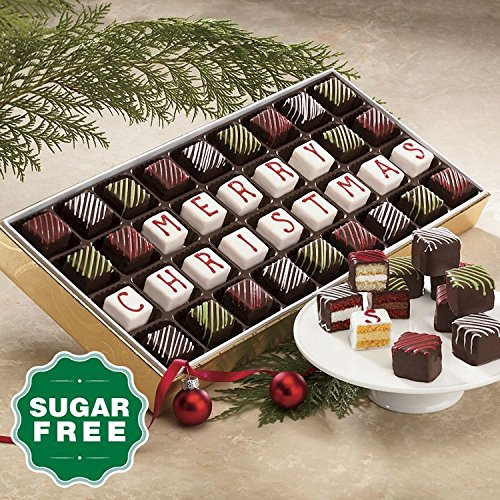 Sugar Free 'Merry Christmas' Petits Fours from The Swiss Colony