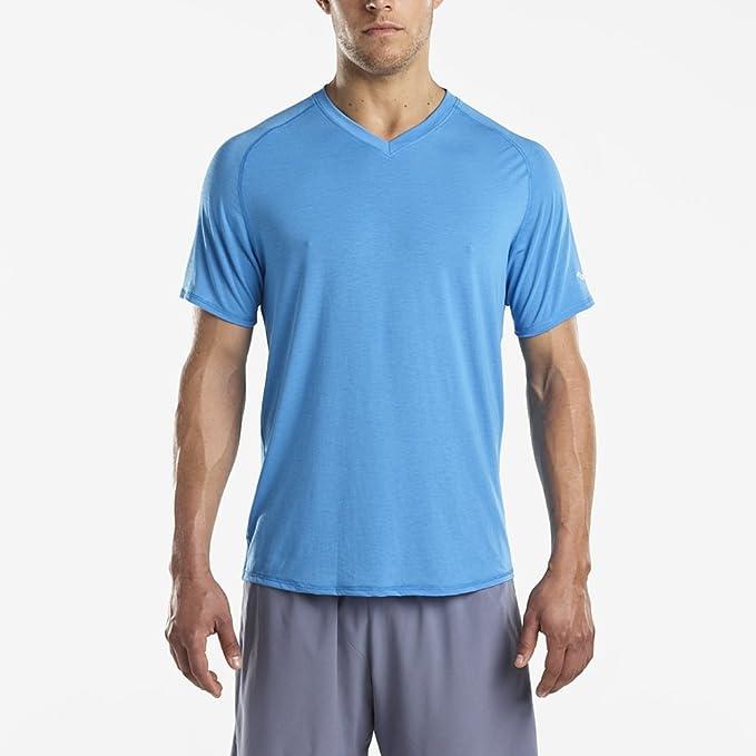 Saucony Freedom V Neck Running T Shirt | AW17 Purple For Men
