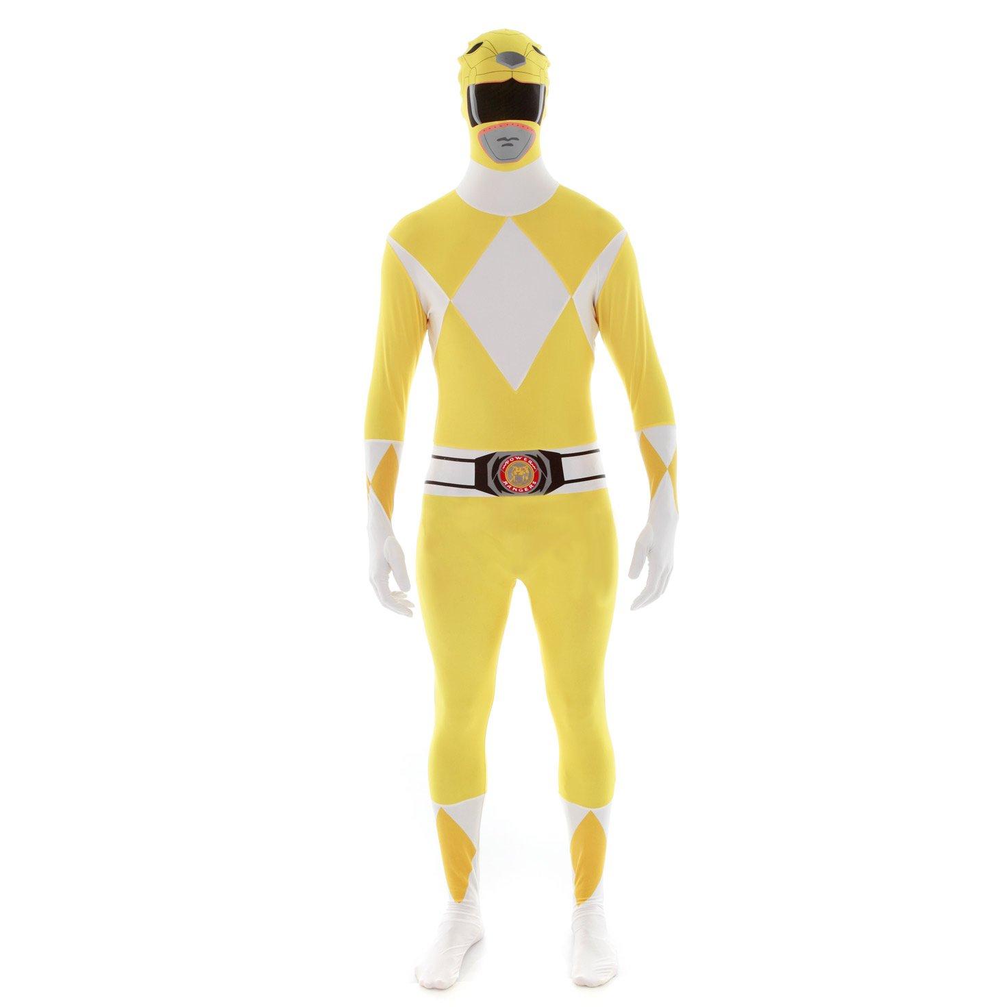 Morphsuits Official Power Ranger Costume,Yellow,Medium 5'-5'4'' (152cm - 163cm)