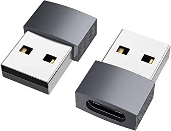 2-Pack Nonda USB-C Female to USB A Male Adapter