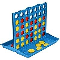 Garosa 4 En Fila Juego de Tablero Clásico de Tablero de Ajedrez Línea 4 Fácil de Configurar Juego y Almacenamiento para Niños Adultos Diversión Familiar Interacción